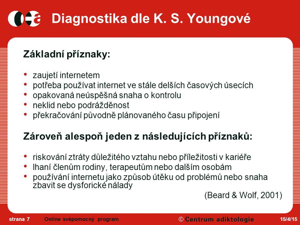 Diagnostika dle K. S. Youngové