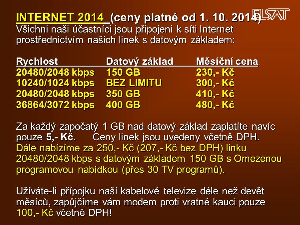 INTERNET 2014 (ceny platné od 1. 10