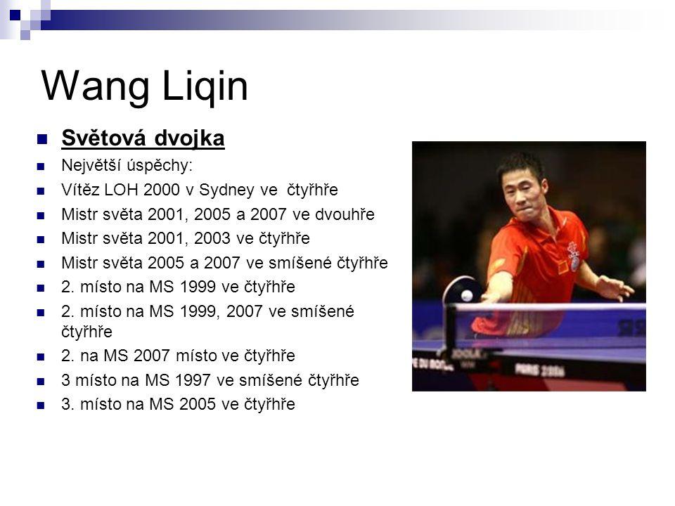 Wang Liqin Světová dvojka Největší úspěchy: