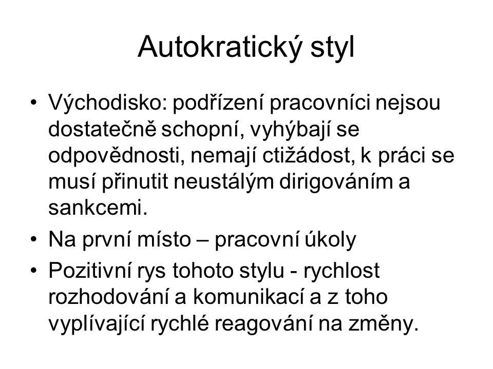 Autokratický styl
