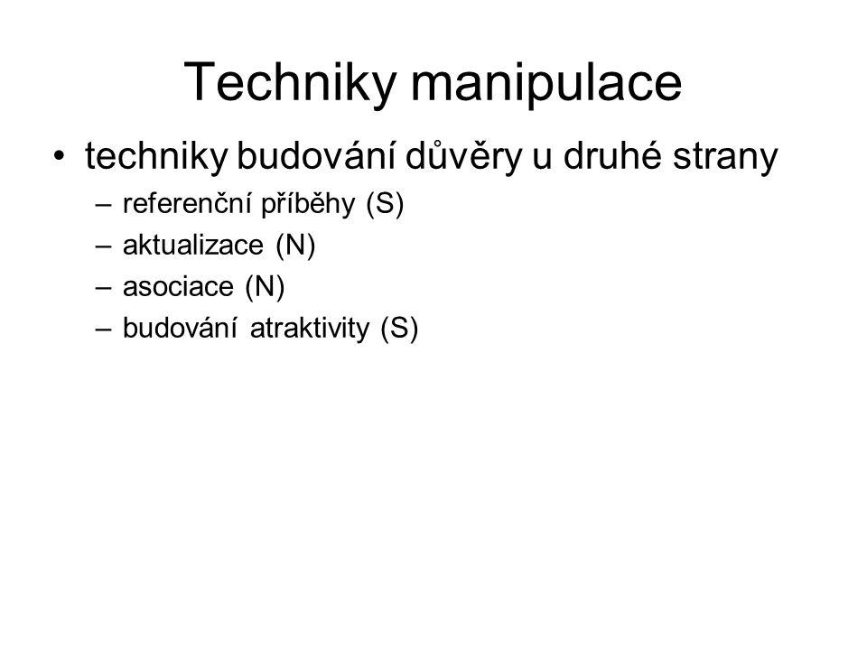 Techniky manipulace techniky budování důvěry u druhé strany