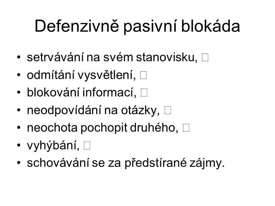 Defenzivně pasivní blokáda