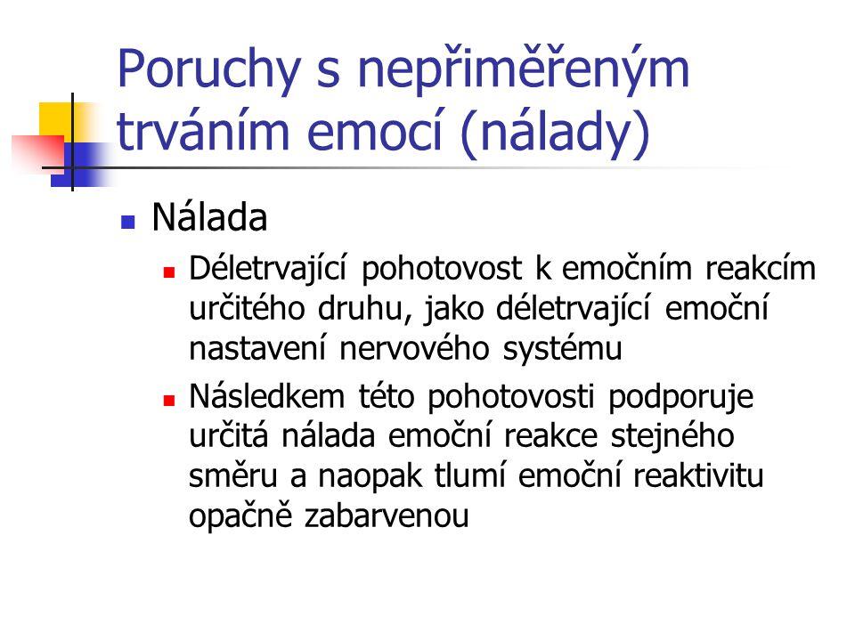 Poruchy s nepřiměřeným trváním emocí (nálady)