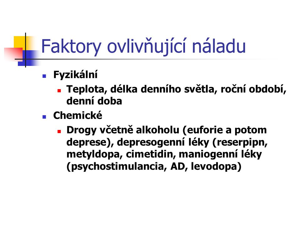 Faktory ovlivňující náladu