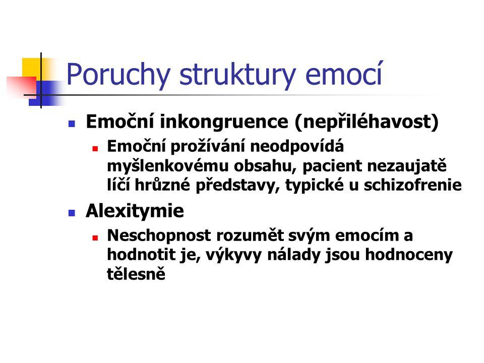 Poruchy struktury emocí