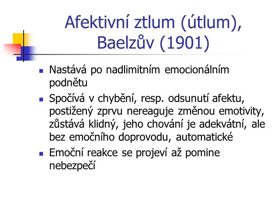 Afektivní ztlum (útlum), Baelzův (1901)