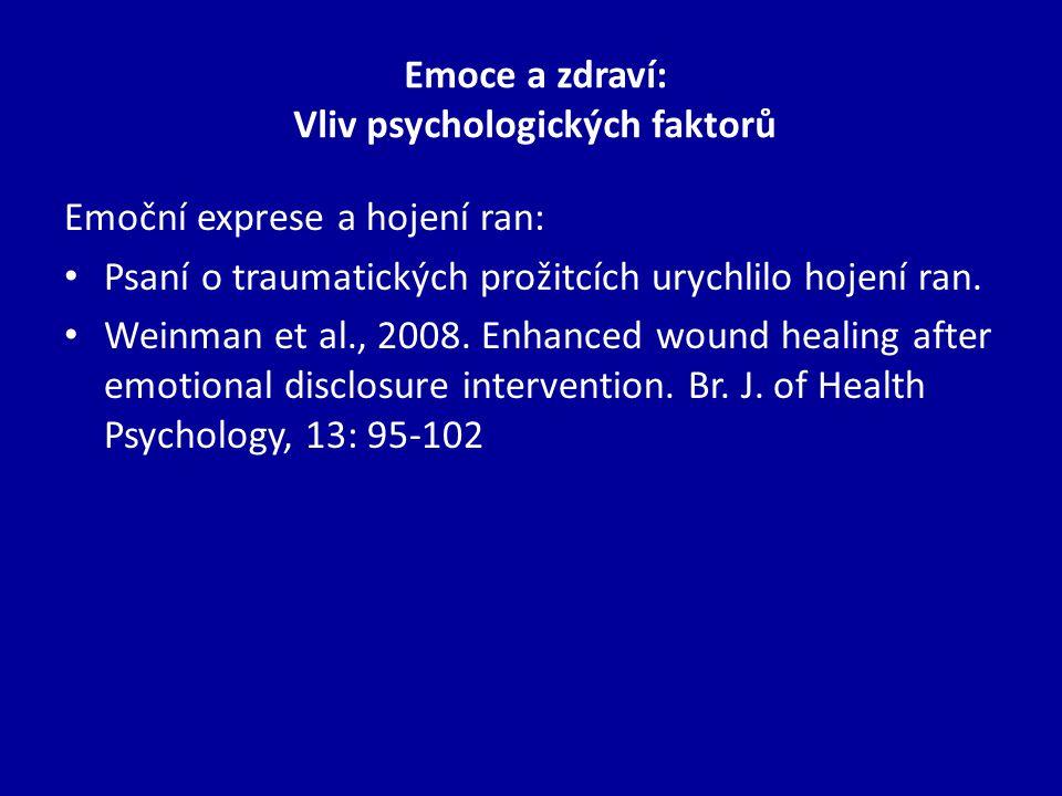 Emoce a zdraví: Vliv psychologických faktorů