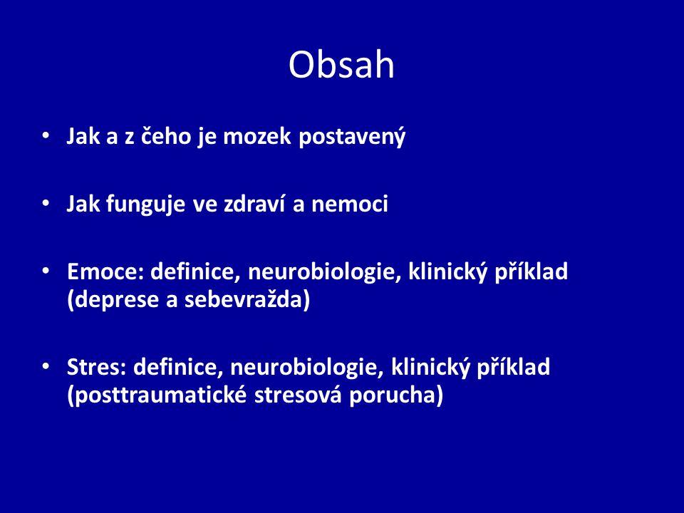 Obsah Jak a z čeho je mozek postavený Jak funguje ve zdraví a nemoci