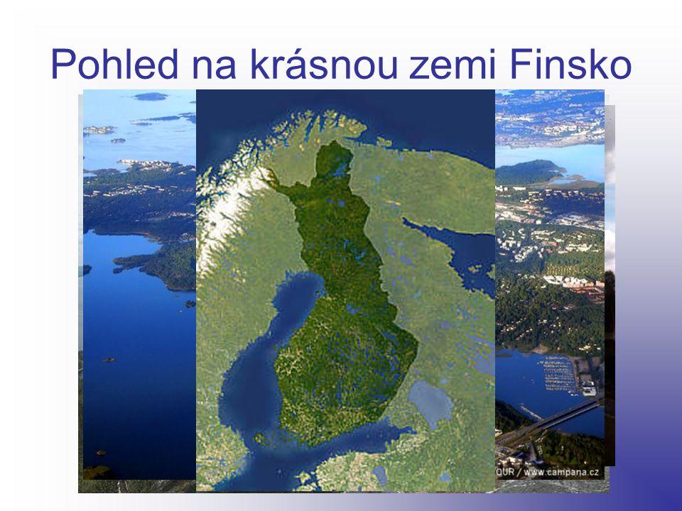Pohled na krásnou zemi Finsko