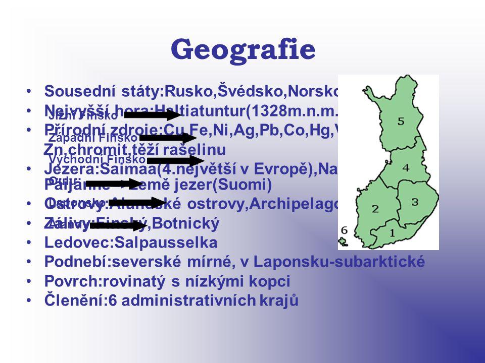 Geografie Sousední státy:Rusko,Švédsko,Norsko