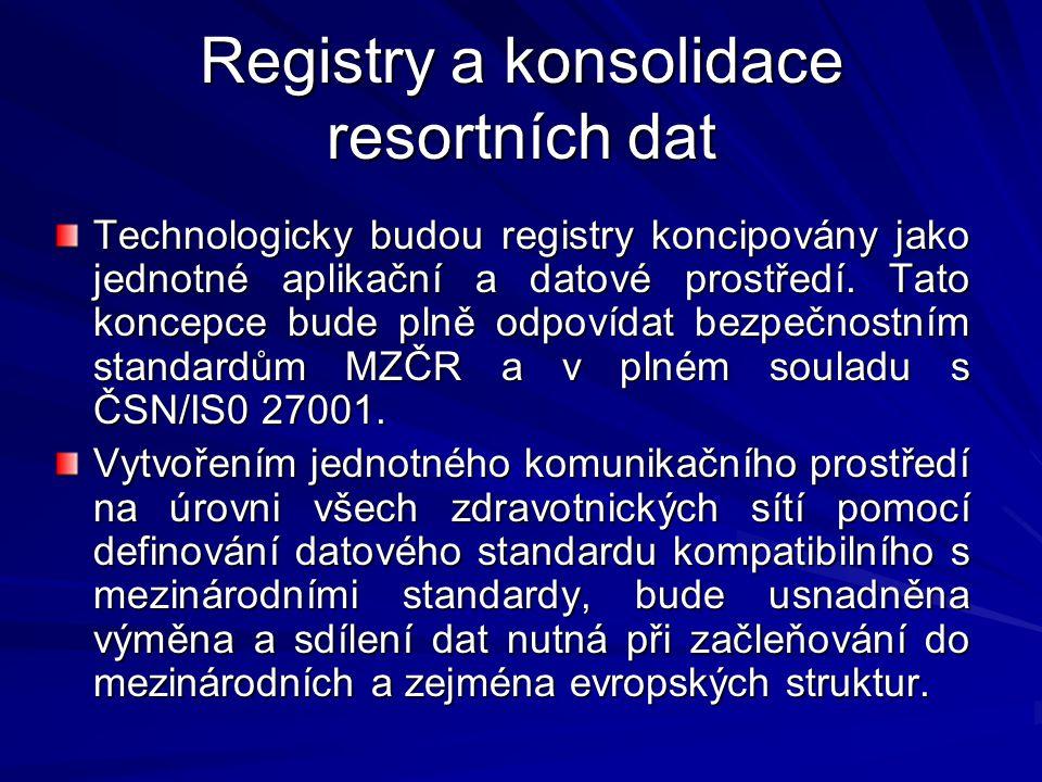 Registry a konsolidace resortních dat