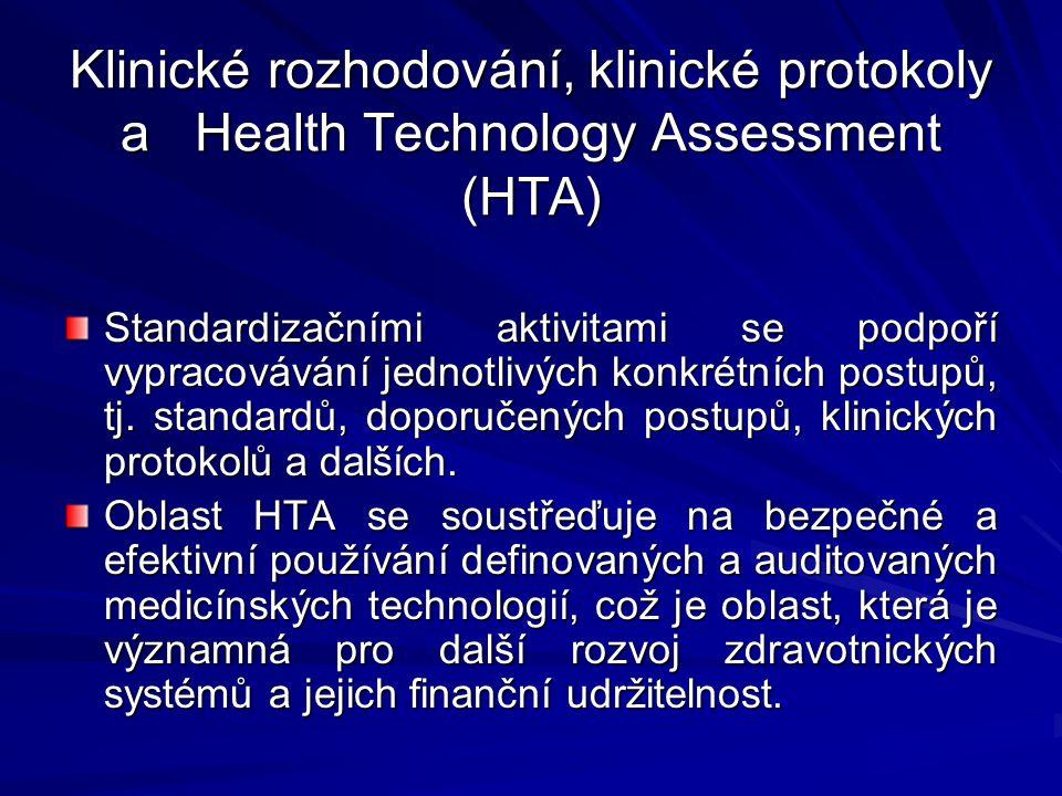 Klinické rozhodování, klinické protokoly a Health Technology Assessment (HTA)