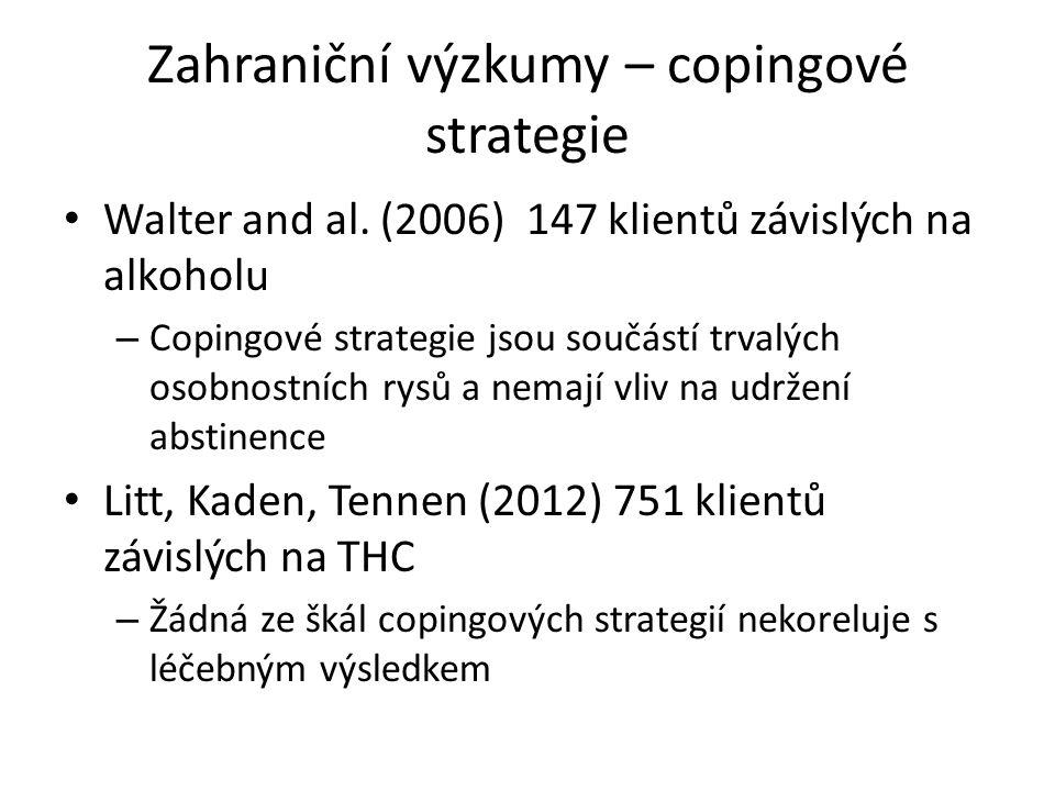 Zahraniční výzkumy – copingové strategie