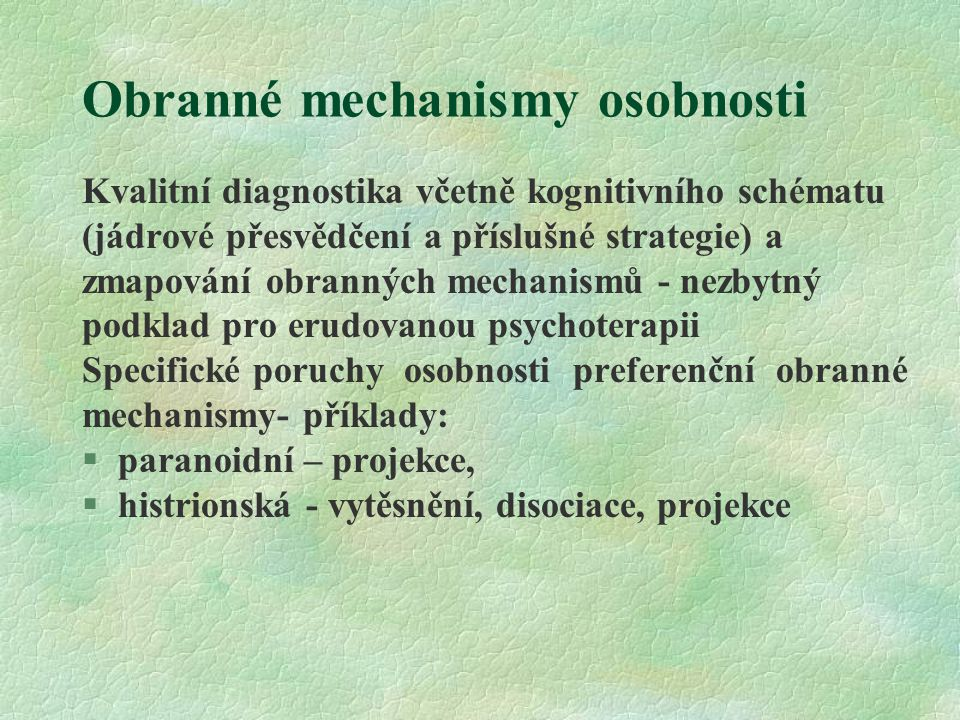 Obranné mechanismy osobnosti
