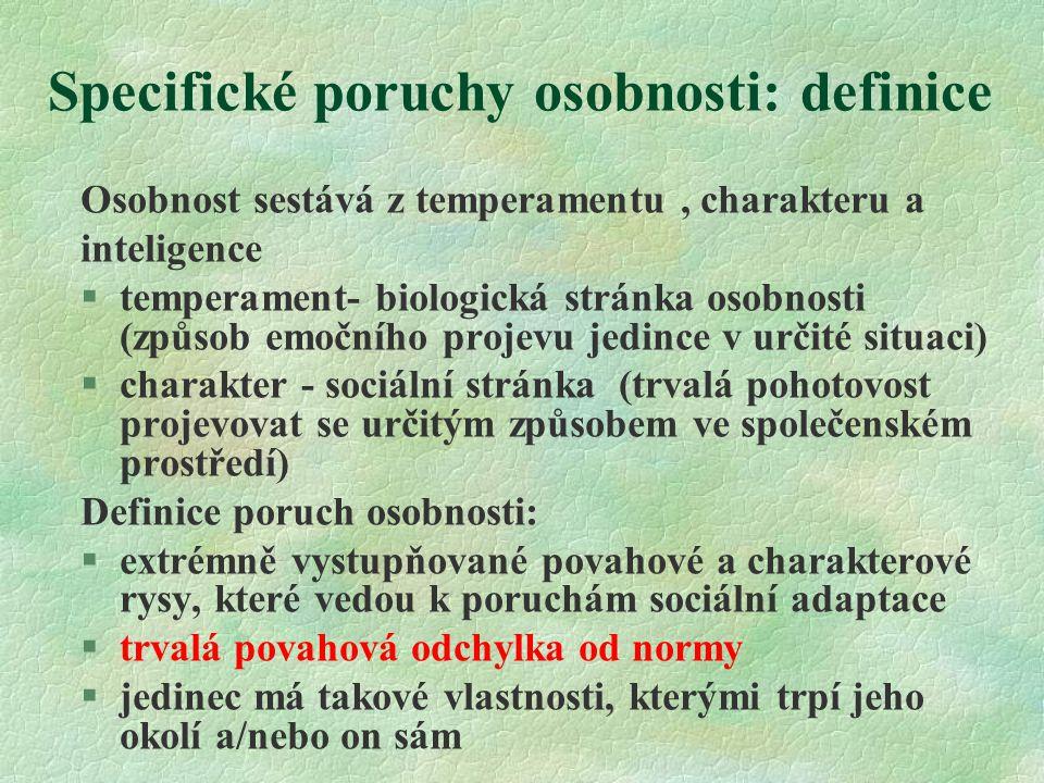 Specifické poruchy osobnosti: definice