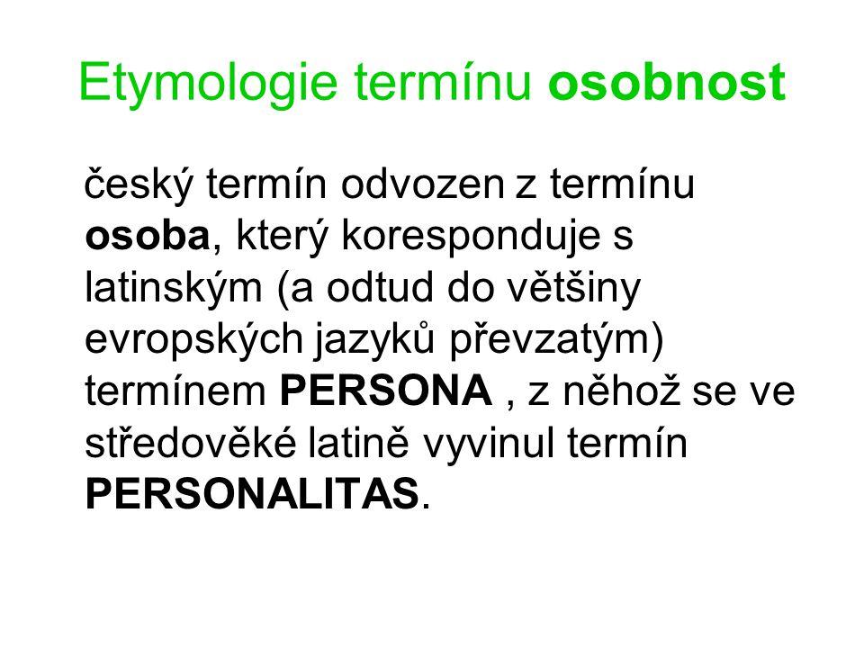 Etymologie termínu osobnost