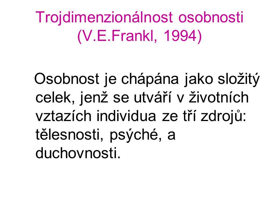 Trojdimenzionálnost osobnosti (V.E.Frankl, 1994)