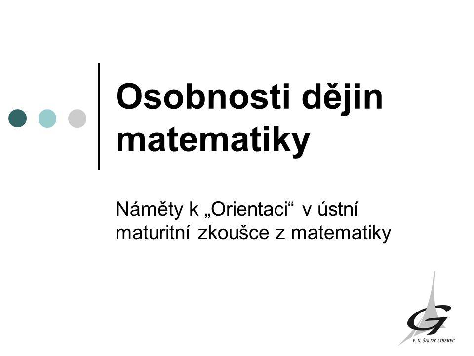 Osobnosti dějin matematiky