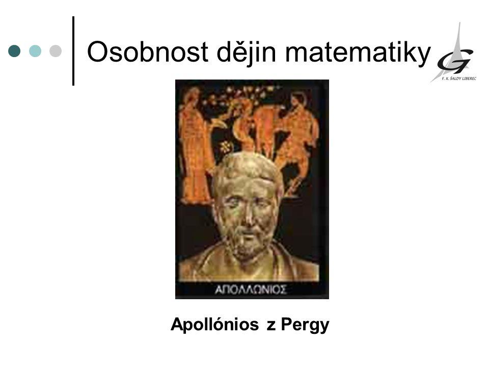 Osobnost dějin matematiky