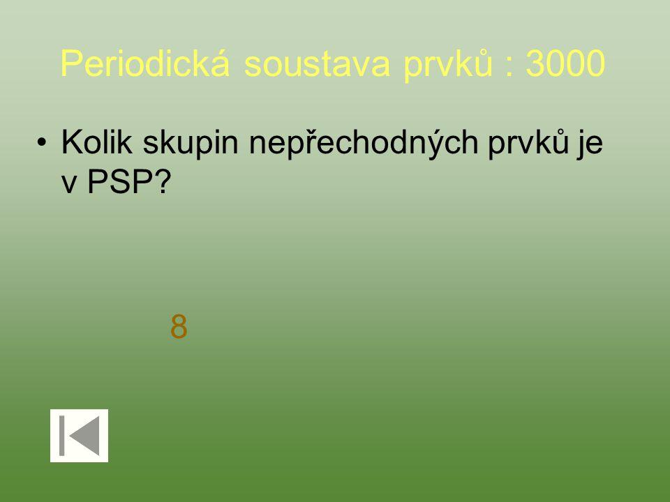 Periodická soustava prvků : 3000