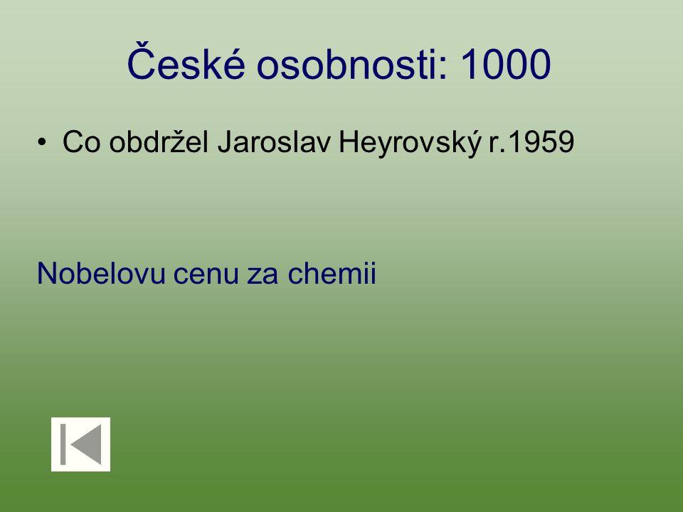 České osobnosti: 1000 Co obdržel Jaroslav Heyrovský r.1959