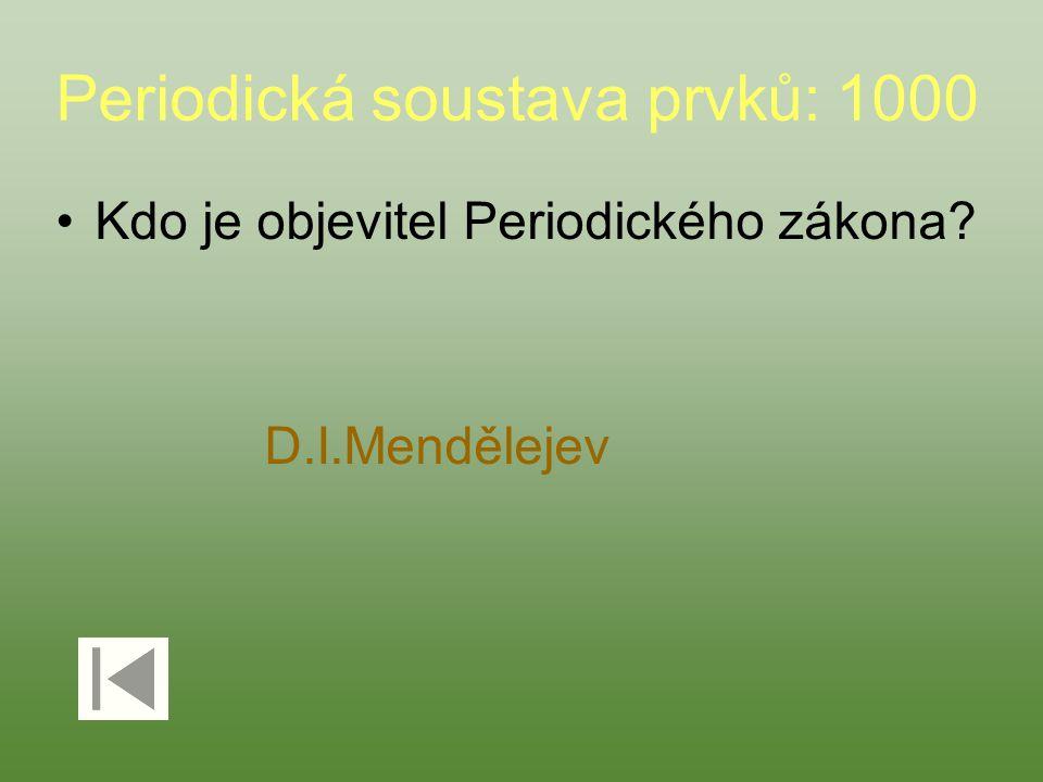 Periodická soustava prvků: 1000