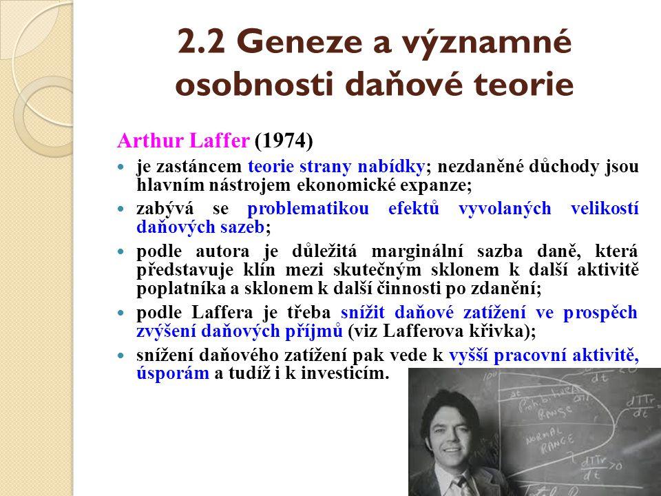 2.2 Geneze a významné osobnosti daňové teorie