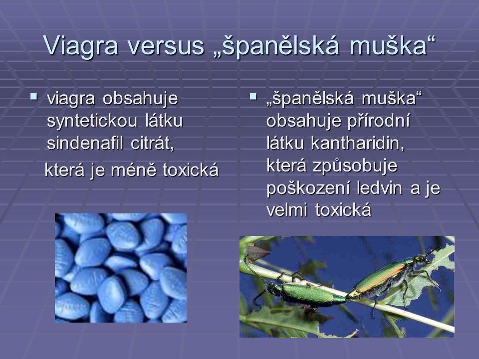 "Viagra versus ""španělská muška"