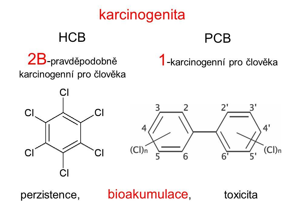 2B-pravděpodobně karcinogenní pro člověka 1-karcinogenní pro člověka