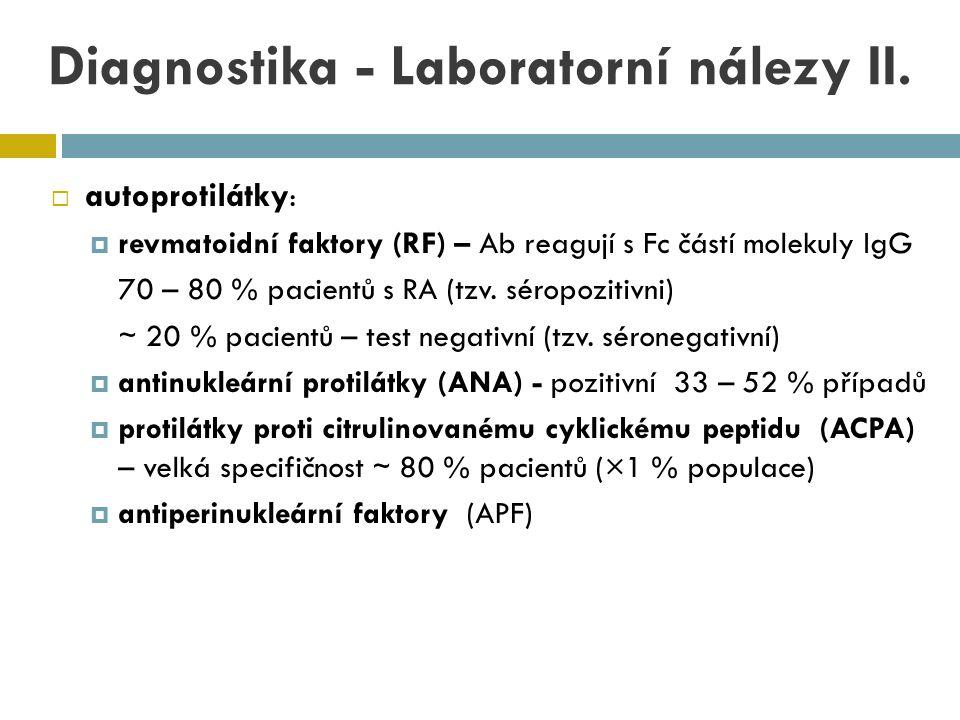 Diagnostika - Laboratorní nálezy II.