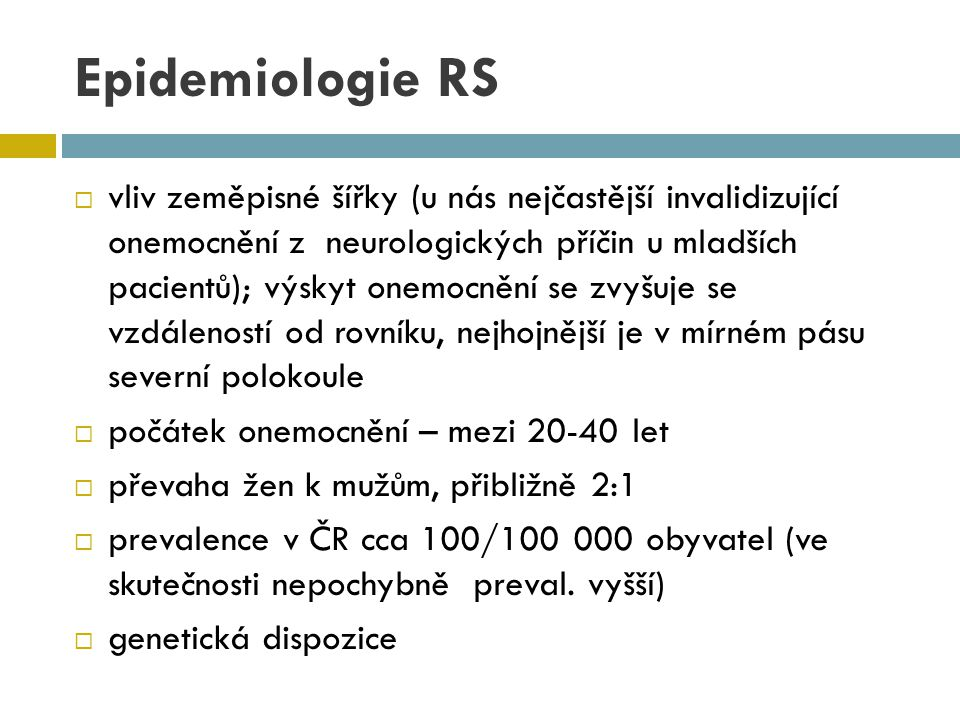 Epidemiologie RS