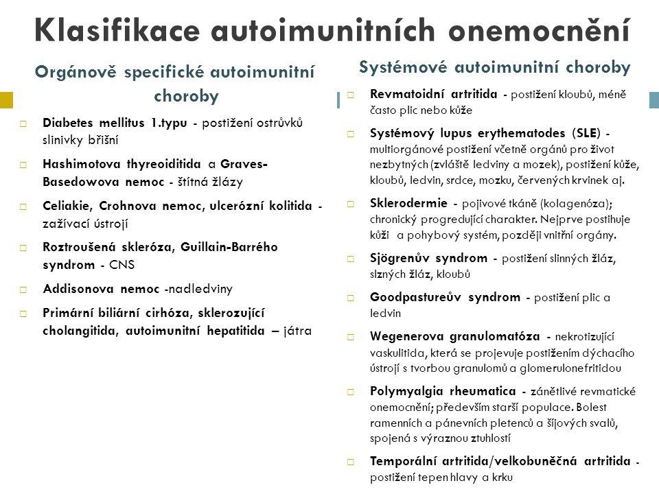 Klasifikace autoimunitních onemocnění