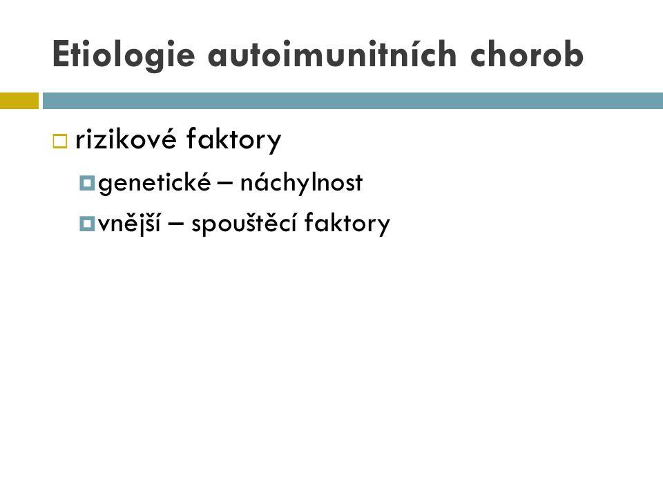 Etiologie autoimunitních chorob