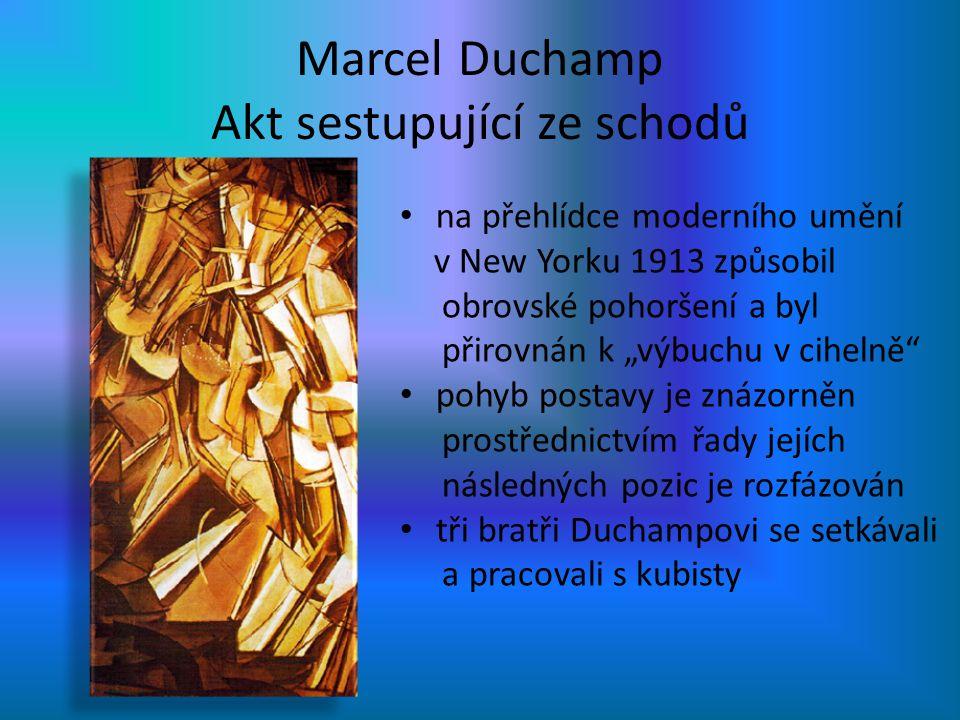 Marcel Duchamp Akt sestupující ze schodů