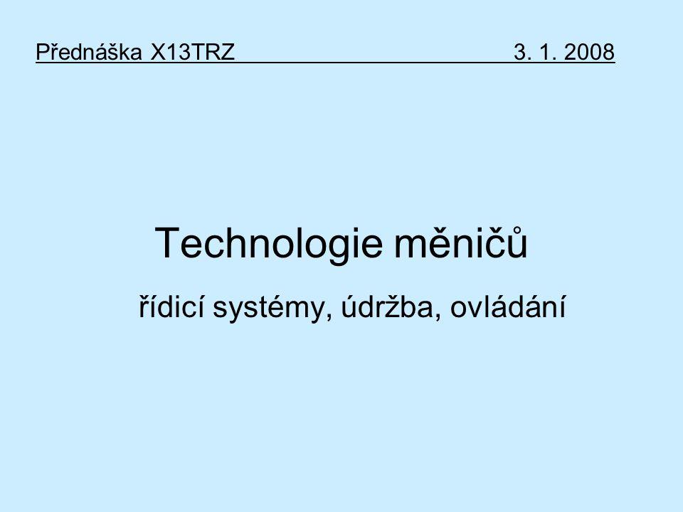řídicí systémy, údržba, ovládání