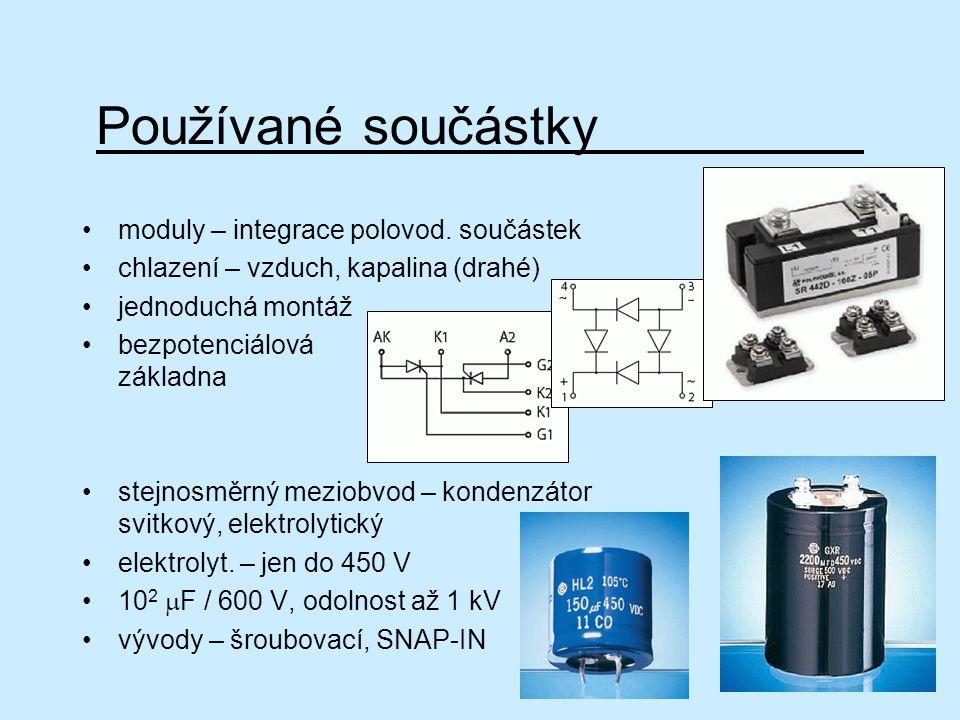 Používané součástky moduly – integrace polovod. součástek