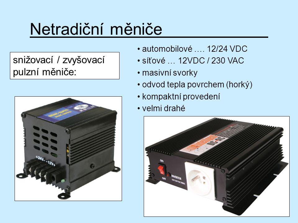Netradiční měniče snižovací / zvyšovací pulzní měniče: