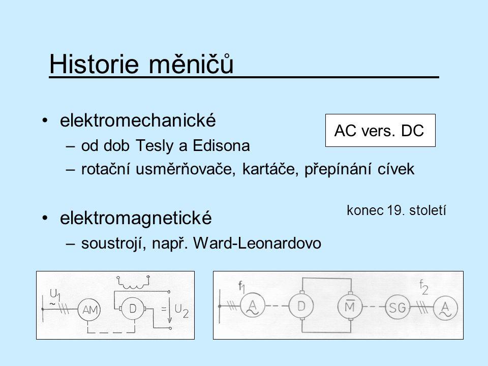 Historie měničů elektromechanické elektromagnetické