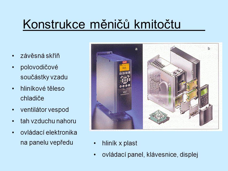 Konstrukce měničů kmitočtu