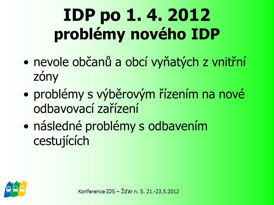 IDP po 1. 4. 2012 problémy nového IDP