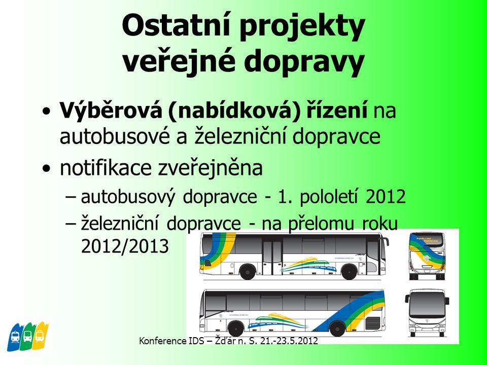 Ostatní projekty veřejné dopravy