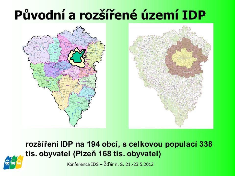 Původní a rozšířené území IDP