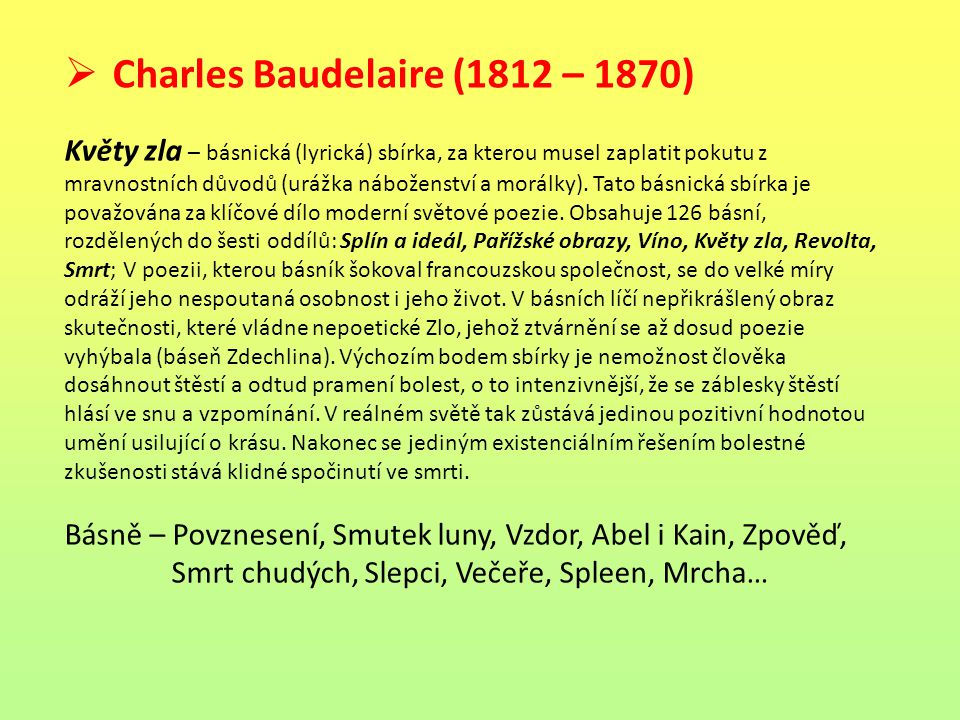 Charles Baudelaire (1812 – 1870)