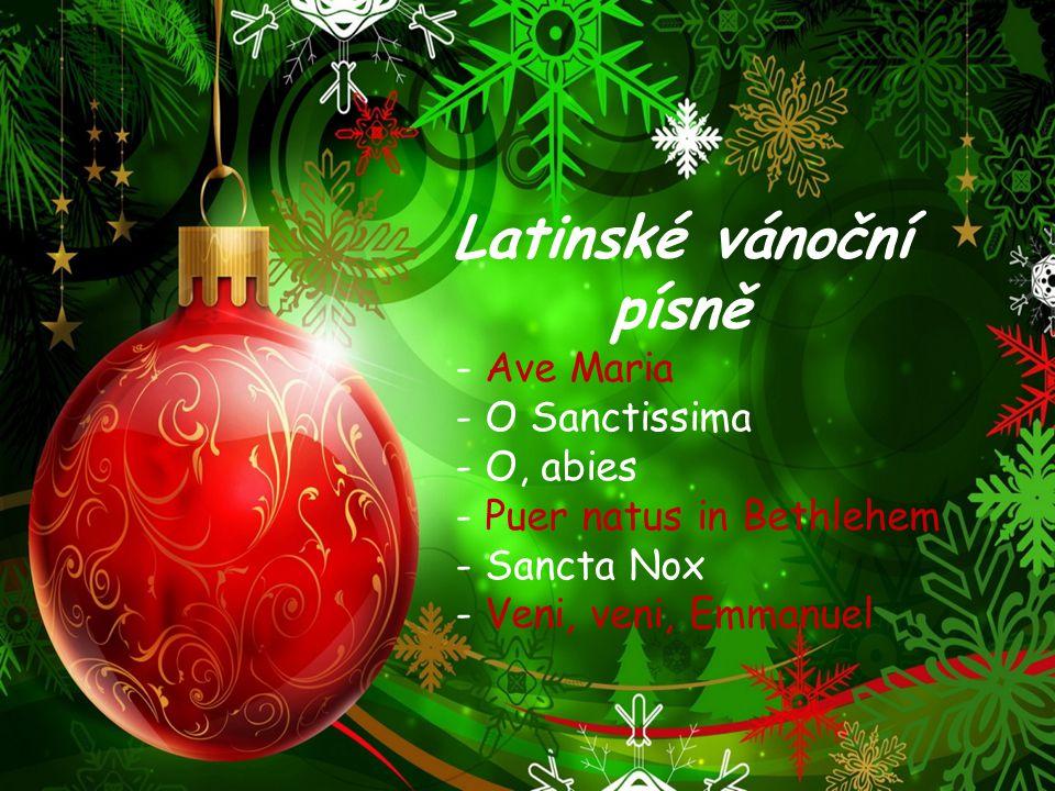 Latinské vánoční písně