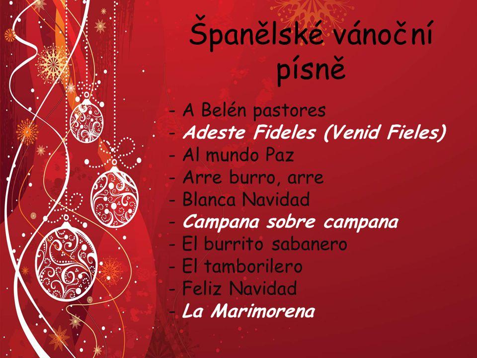 Španělské vánoční písně