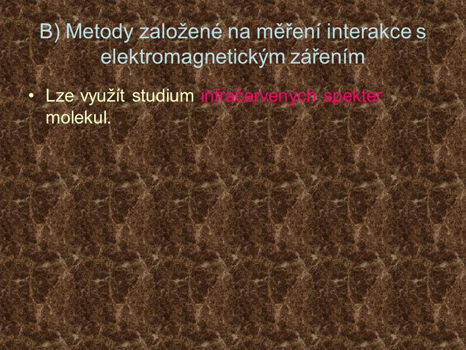 B) Metody založené na měření interakce s elektromagnetickým zářením