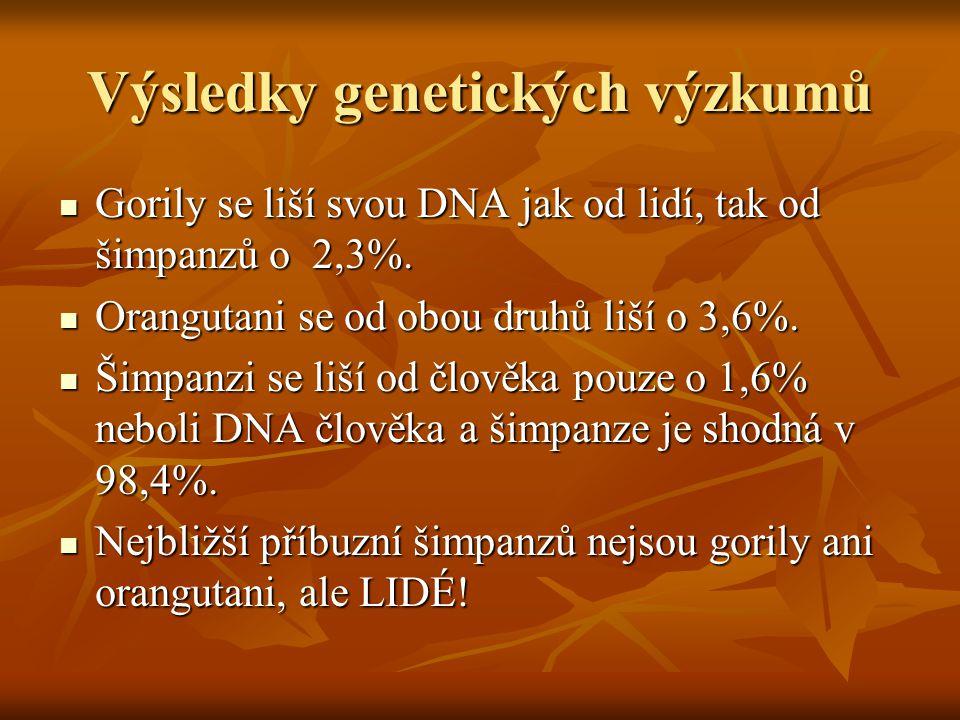 Výsledky genetických výzkumů