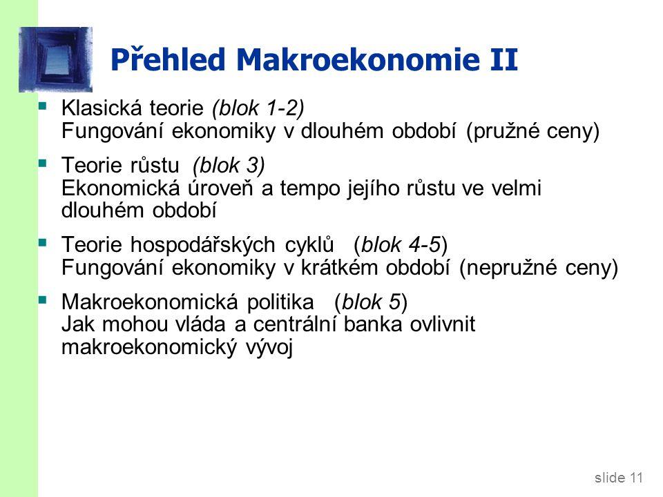 Shrnutí Makroekonomie se snaží vysvětlit chování ekonomiky jako celku