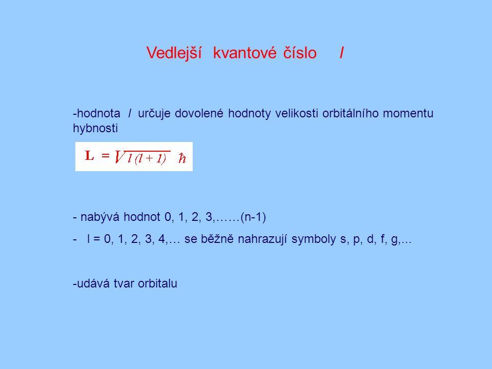 Vedlejší kvantové číslo l