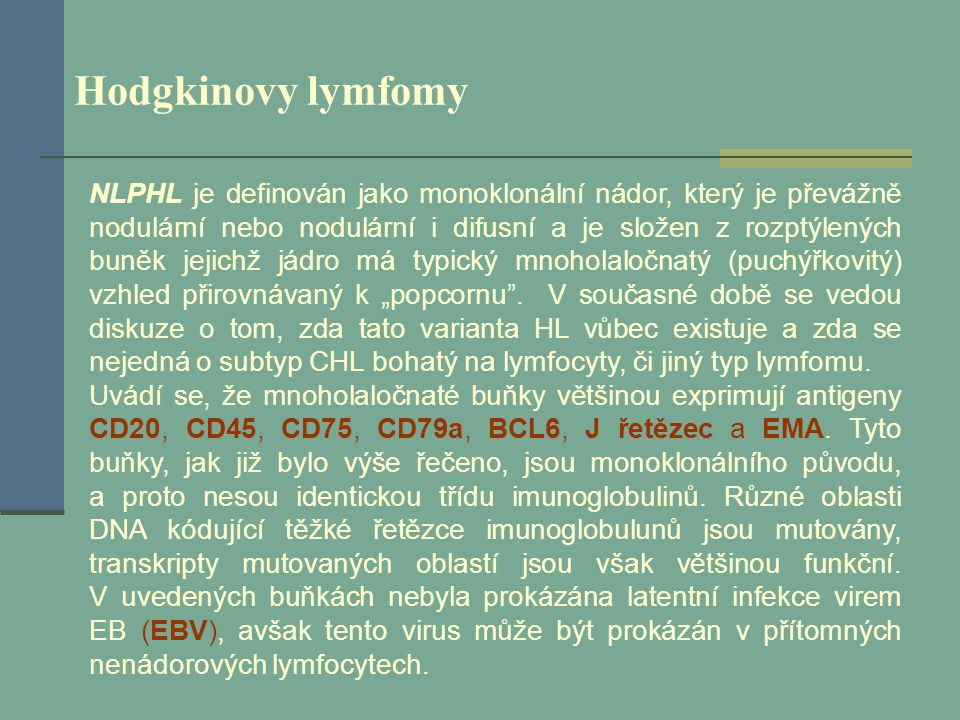 Hodgkinovy lymfomy